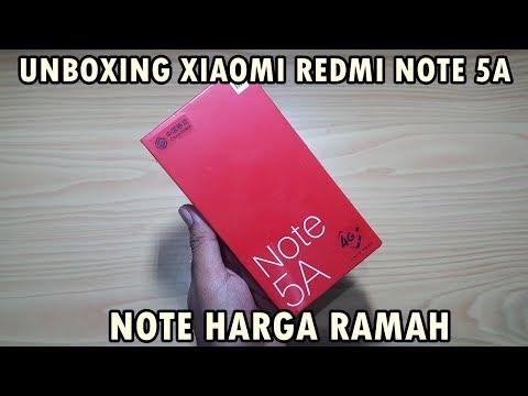 UNBOXING - Xiaomi Redmi NOTE 5A Indonesia, NOTE Harga Ramah.