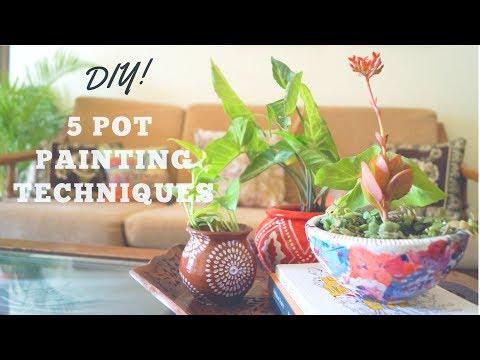 5 Pot Painting Techniques
