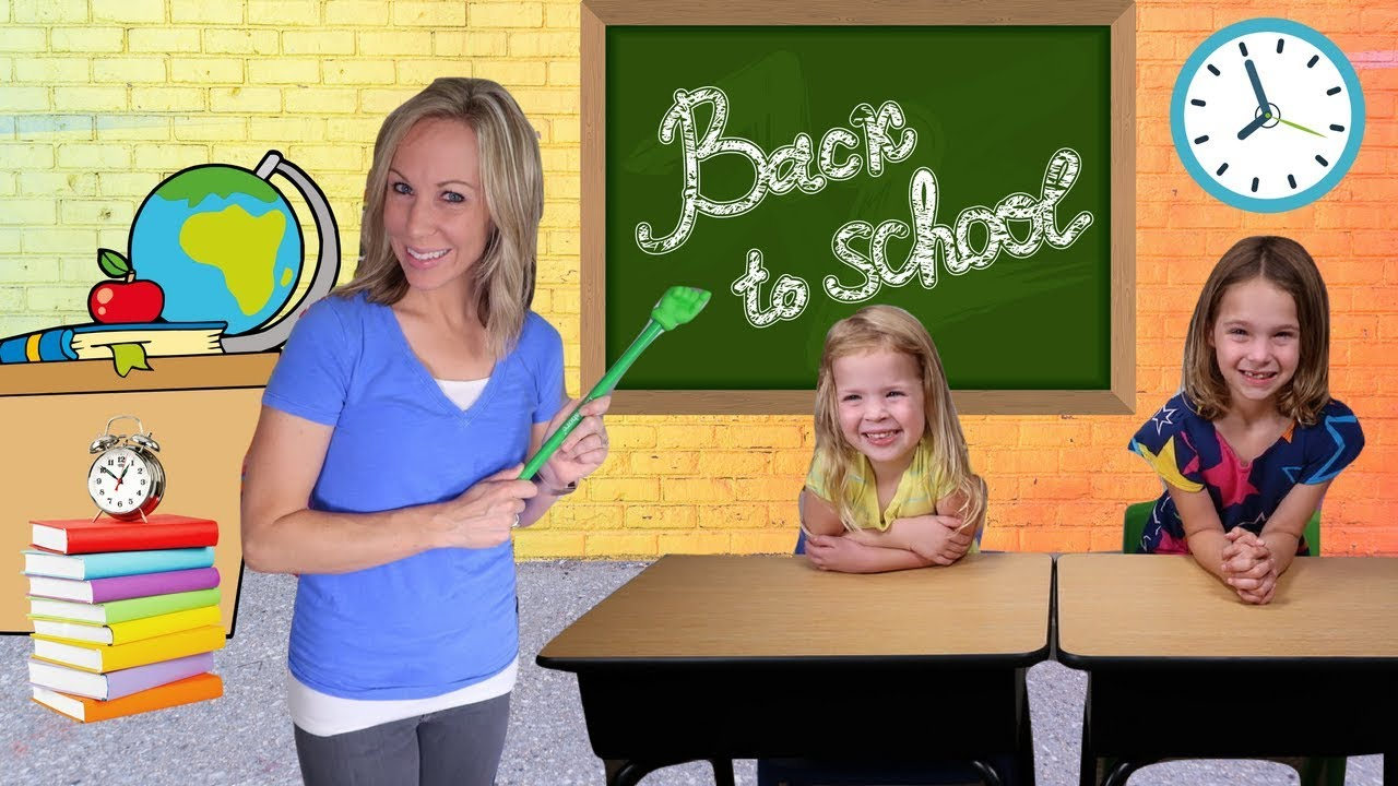 Toys For School : First day back to fake toy school for addy and maya