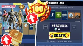 *RAPID* FORTNITE IS REGALING LEVELS AND THE NEW *BATTLE PASS 9 FREE*!!! (FREE SKINS)
