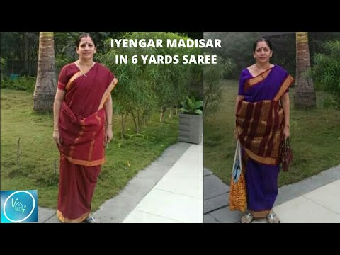 How To Wear Iyengar Madisar Using 6 Yards Saree?