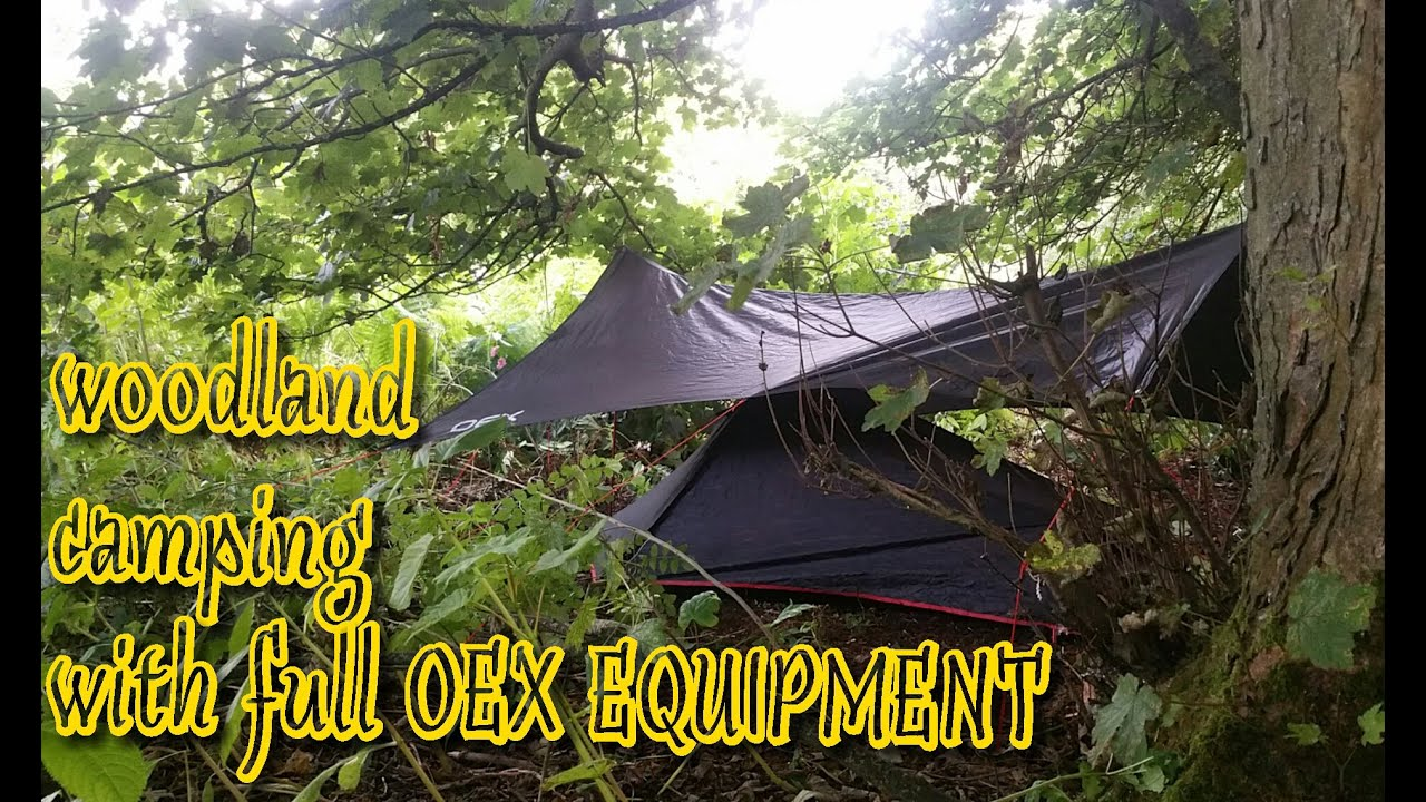 wild woodland camping in a small one man tent, oex phoxx ...