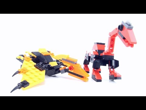 2 lego compatible dinosaurs - What type of Dinosaur or Pterosaur - Dino Lego-Style Speed Build
