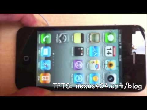 iPhone 4 Death Grip at Apple Opera Store in Paris