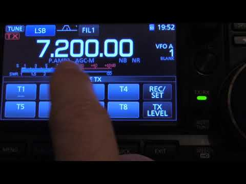 How to Voice Record CQ Automatic Repeat CQ and Timing IC 7300