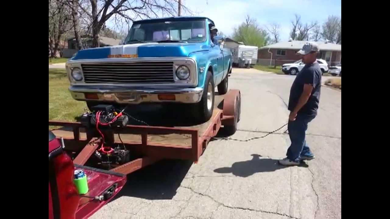 installing 12k badland winch on trailer [ 1280 x 720 Pixel ]