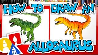 How To Draw An Allosaurus + ARTIST SPOTLIGHT!