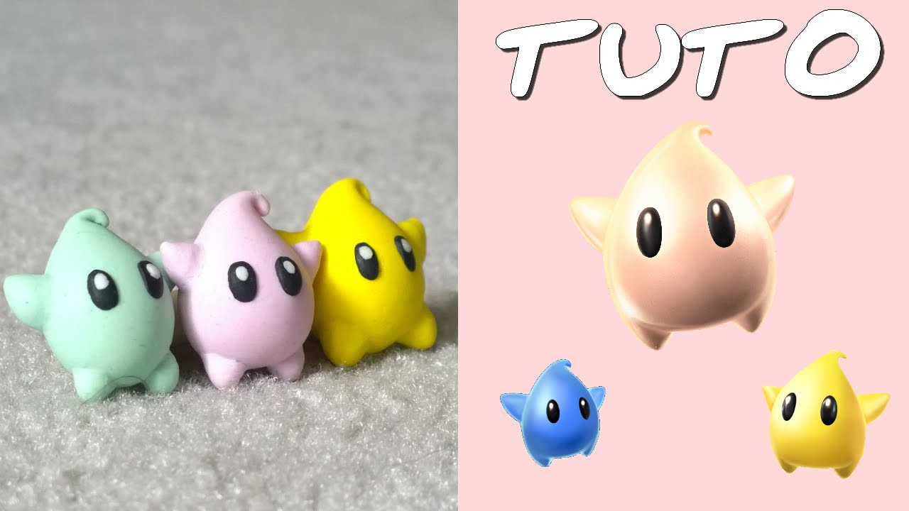 Tuto fimo luma de mario galaxy facile youtube - Creation facile a faire ...