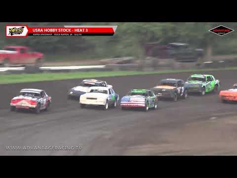 Hobby Stock Heats - Rapid Speedway - 8/2/19