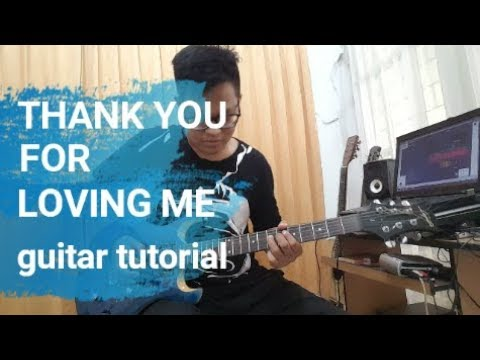 #Tutorial Thank You For Loving Me Guitar Lead Melodi