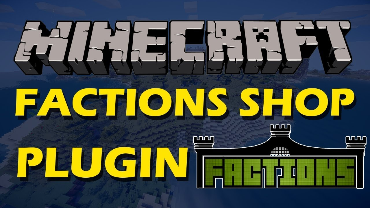 Buy and sell items in a GUI in Minecraft with Factions Shop Plugin