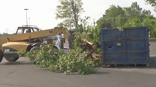 Crews clean up estimated $3 million worth of tornado damage on Hamburg Fairgrounds