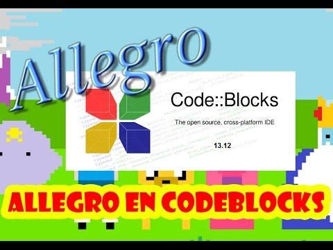 Cómo instalar librería Allegro en CodeBlocks 13.12 Windows 10/8.1/8/7