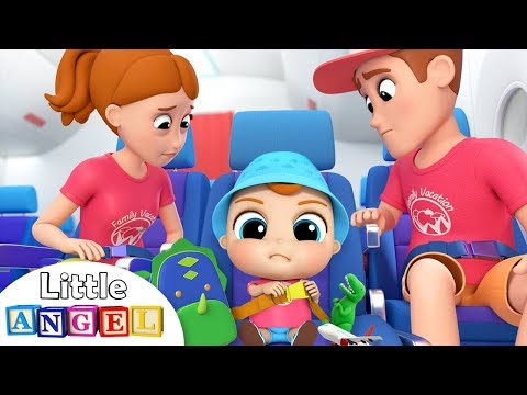 Wear your Seat belt on the Airplane | Good Manners Song | Little Angel Nursery Rhymes & Kids Songs