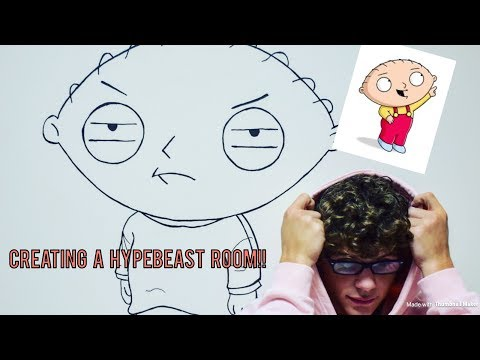 HOW TO CREATE A CUSTOM HYPEBEAST ROOM!!!
