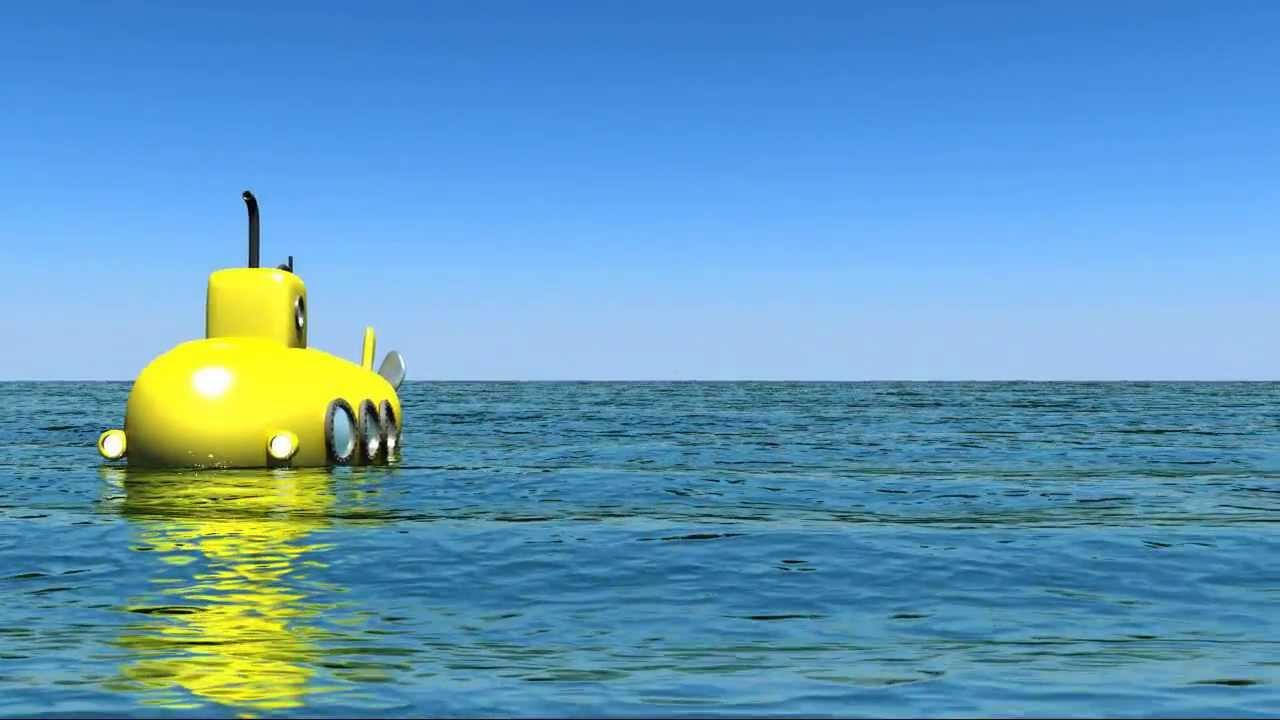 The Beatles - Yellow Submarine 3d cartoon - YouTube