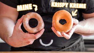 Making krispy kreme glazed donuts at home | but better