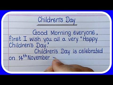 Download Children's Day Speech in English Writing/14 November Speech/Children's Day-Learn Essay Speech