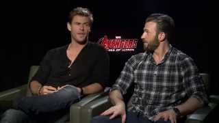 Chris Hemsworth & Chris Evans Talk Crossovers, Joss Whedon & More | Avengers 2: Age of Ultron
