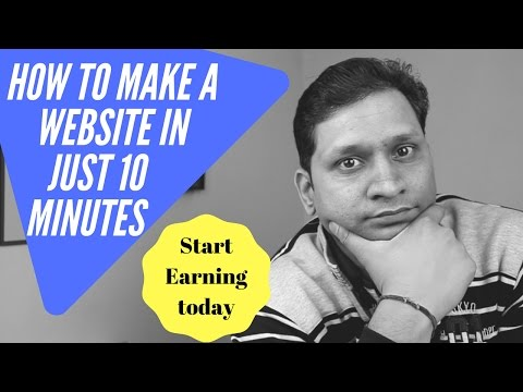 How to Make a Website in 10 Minutes & Start Online Earnings (Tutorial) | Sharmaji Technical