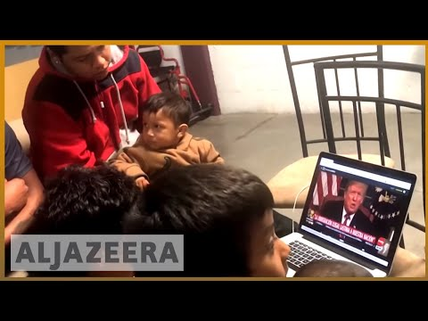 🇺🇸 Central American migrants watch Trump