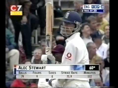 Alec Stewart 105 vs West Indies 2000 -  Alec's 100th Test Match