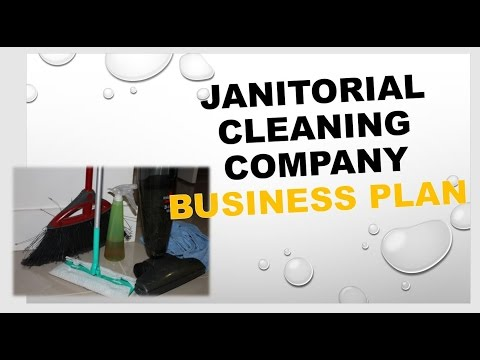 Janitorial Cleaning Company Business Plan Template