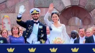 Prins Carl Philip og prinsesse Sofia tog hul på bryllupsfesten