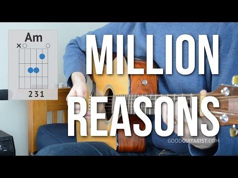"""Million Reasons"" Guitar Tutorial - Lady Gaga | Easy Chords And Strumming"