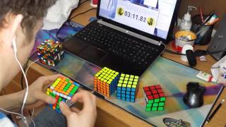 2x2 7x7 rubik s cube world record 6 23 81