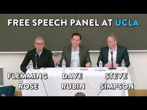 Free Speech Panel at UCLA: Dave Rubin, Flemming Rose, Steve Simpson