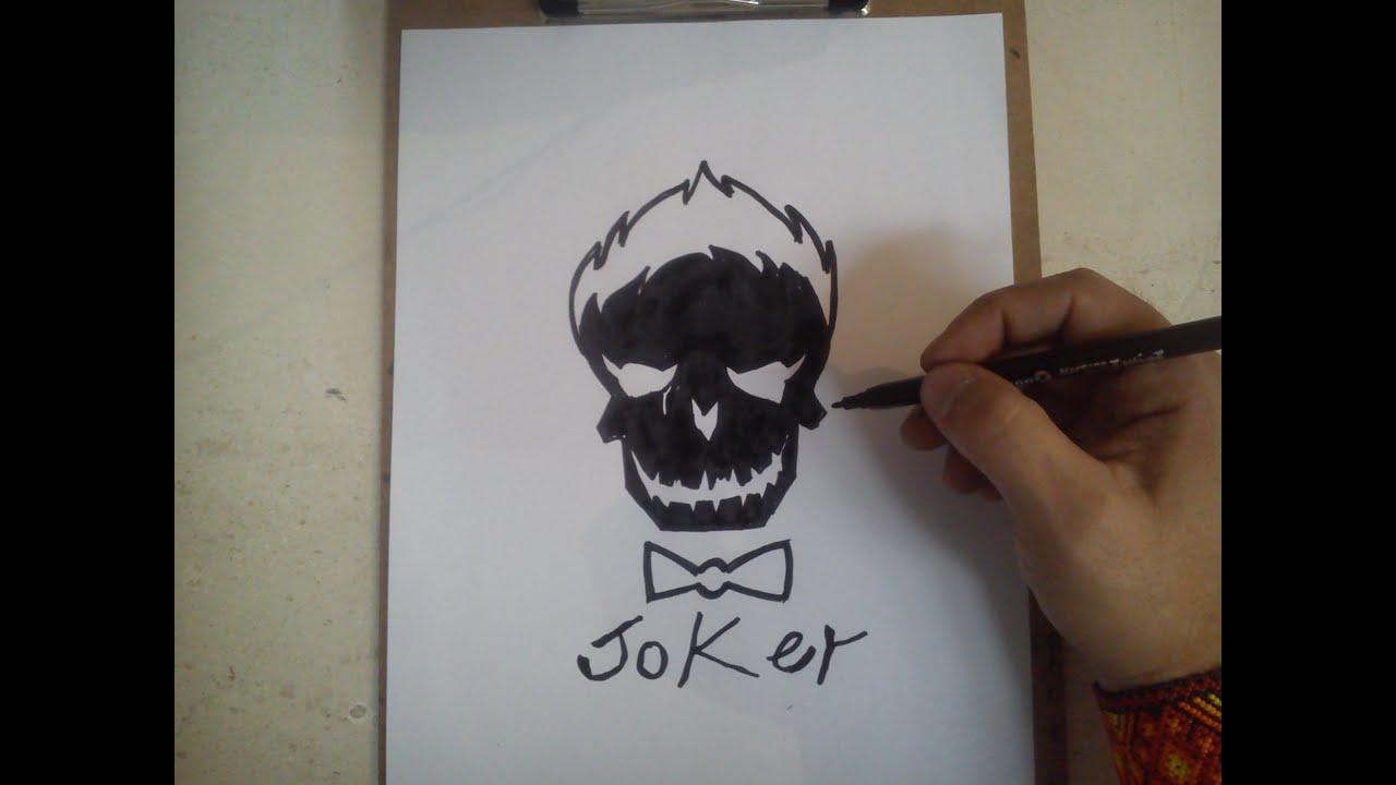 COMO DIBUJAR EL LOGO DE JOKER