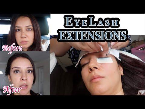 Getting Lash Extensions Vlog #lashextensions #hybridlashes #eyelashextensions