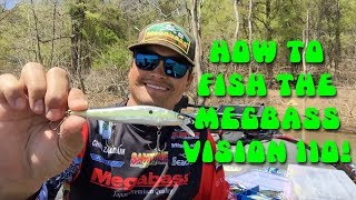 How to fish the Megabass Vision 110 jerkbait