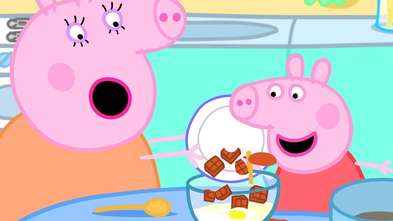 Download Peppa Pig Official Channel 🍫 Peppa Pig Makes Chocolate Cake Special