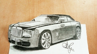 How to draw Rolls Royce Phantom-How to draw a 3d car-Amazing Facts of Rolls Royce