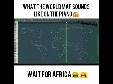 World Map On Piano Africa What The WorldMap Sounds Like On Piano (WAIT FOR AFRICA!)   YouTube