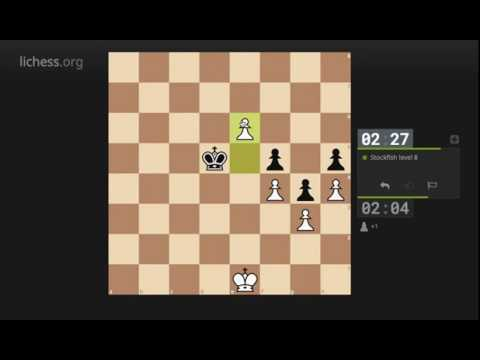 Stockfish level 8 is easy... at least in atomic chess :D (Lichess.org)