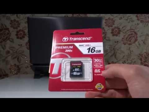 Карта памяти Transcend SDHC 16GB Class 10. Распаковка и тестирование