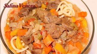 ЛАГМАН. Как приготовить вкусный Лагман. Рецепт Лагмана с бараниной и телятиной.