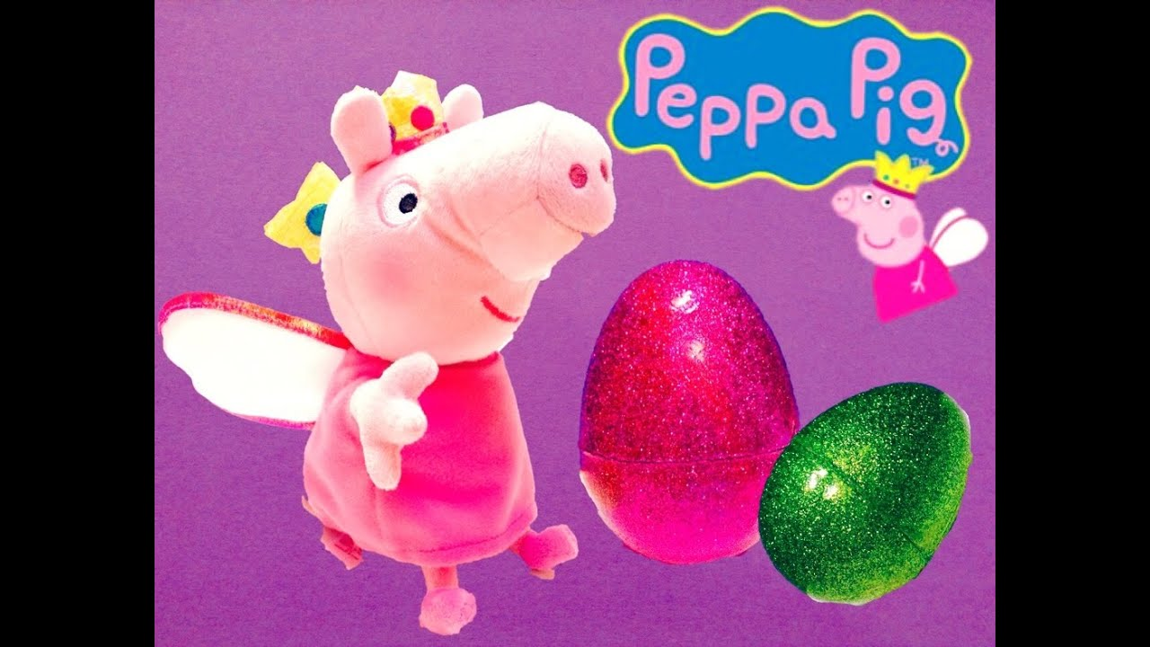 Princess Peppa Pig Beanie Baby Soft Toy Easter Egg Surprise Birthday Party! 86d4f969ba38