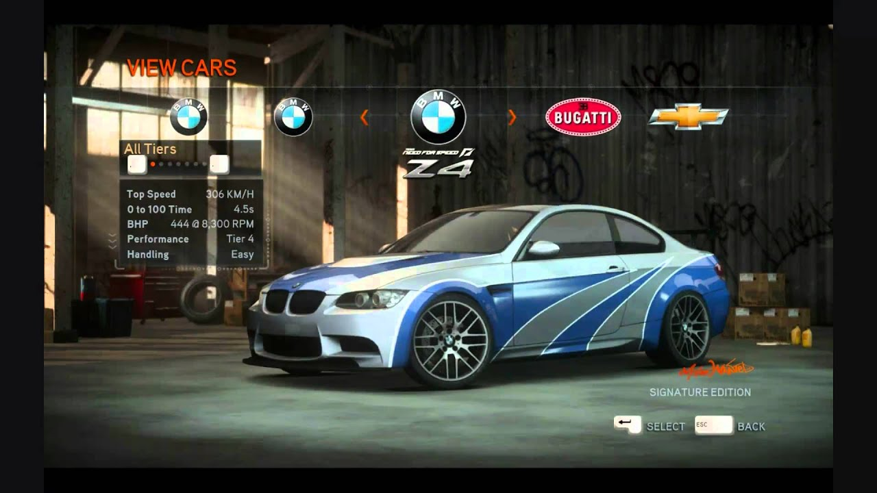 Need For Speed The Run All Cars HD