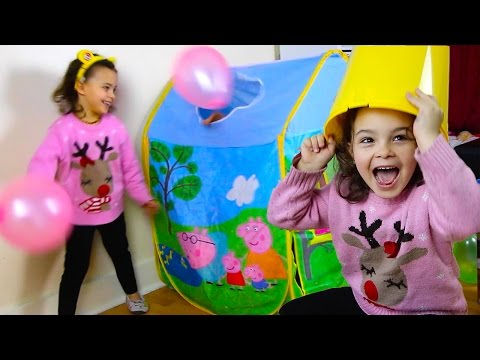Peppa Pig Surprise Toys Tent, Toy Fun with Sunshine