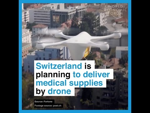 Switzerland is planning to deliver medical supplies by drone