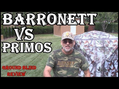 Primos Vs Barronett Ground Blind Review  - WATCH BEFORE YOU BUY ONE