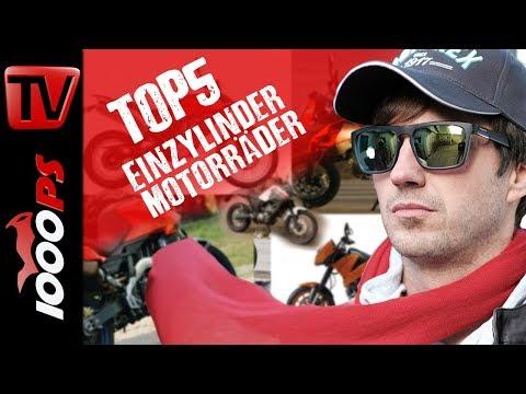 Top 5 - Einzylinder Motorräder! Auf der Suche nach günstigen Dampfhämmern!
