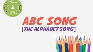 ABC Song [The Alphabet Song] (instrumental nursery rhyme - lyrics video for karaoke)