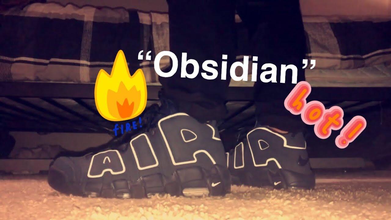 "b3e0a1c73df Nike Uptempo ""Obsidian"" On feet REVIEW! - YouTube"