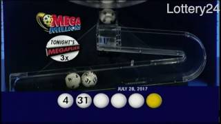 2017 07 28 Mega Millions Numbers and draw results