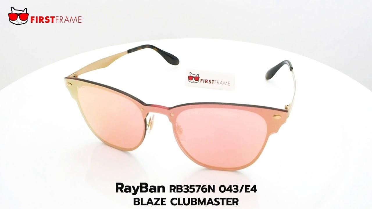 36ed48ae074 RayBan RB3576N 043 E4 BLAZE CLUBMASTER - YouTube